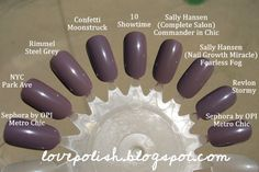 nail polish dupe Pro 10 Showtime is one of my faves! Beauty Dupes, Makeup Dupes, Beauty Nails, Makeup Hacks, Nail Polish Dupes, Cheap Nail Polish, Nail Polishes, Manicures, Gray Nails