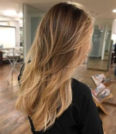 Long+Layered+Hair+With+Brown+Blonde+Ombre