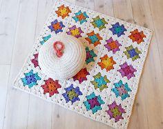 Manta de crochet hecho a mano por La Casa de Cotó