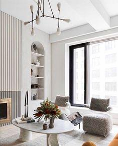 Home Room Design, Interior Design Living Room, Living Room Designs, Kitchen Design, Chic Living Room, Home Living, Small Space Living, Living Spaces, Living Rooms
