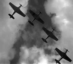 P-51 Mustangs over Ramitelli Airfield by Toni Frissell