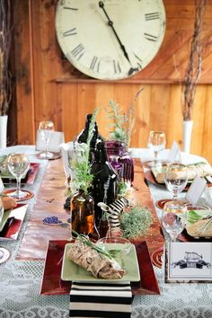 Adorable Steampunk Wedding Table Settings |  www.MadamPaloozaEmporium.com www.facebook.com/MadamPalooza