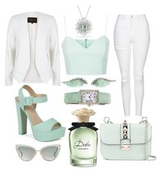 Minty Cool by pulseofthematter on Polyvore featuring polyvore fashion style Topshop River Island Call it SPRING Valentino Cartier Noor Fares David Yurman Dita Dolce&Gabbana clothing