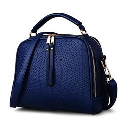 Embossed Tromp-l'oeil Faux Leather Handbag