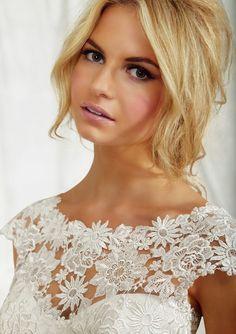 Mori Lee Bridals Lace Cap Sleeve Wedding Dress