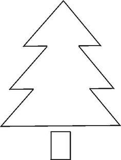 Free Stencil: Christmas Tree 2