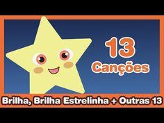 Brilha, Brilha, Estrelinha + Outras 13 Músicas Infantis ♫ HD - YouTube Kindergarten Music, E Clips, Kids Songs, Baby Care, Pikachu, Teaching, Education, Youtube, Peppa Pig