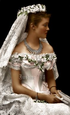 Louise Margaret of Prussia, Duchess of Connaught on her wedding day.