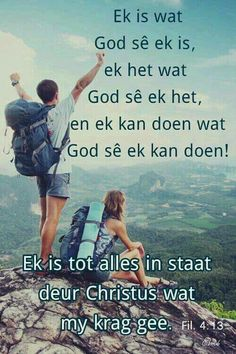 Ek is tot alles in staat deur Christus wat my krag gee Inspirational Qoutes, Motivational Quotes, Bible Quotes, Bible Verses, Afrikaanse Quotes, Teaching Quotes, Faith Hope Love, Praise And Worship, Good Morning Quotes