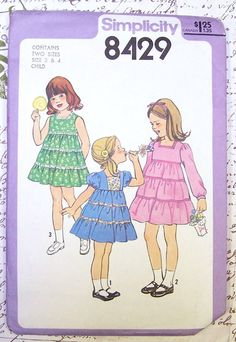 Simplicity 8429 Dress Vintage 1970s Sewing by GoGreenVintageStyle, $7.00