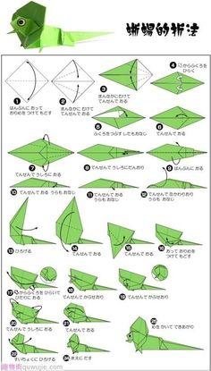 Origami Easy Lizard