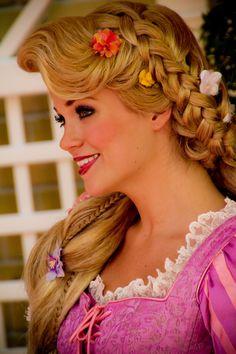 Rapunzel at Disney Rapunzel Makeup, Rapunzel Wig, Rapunzel Costume, Disney Rapunzel, Princess Rapunzel, Disney Love, Disney Magic, Disney Princesses, Disney Stuff