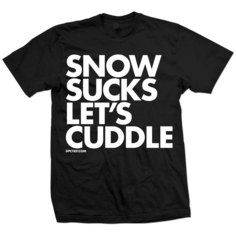 Snow Sucks Let's Cuddle Tee Blk, $21, now featured on Fab.