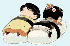 Rivaille (Levi) x Eren Jaeger.... I'm g jump off a bridge, this is so cute