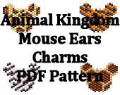 Disney's Animal Kingdom Hidden Mickey Mouse Ears Charms PDF Pattern Set of Four Designs