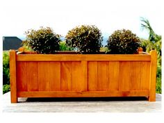 Custom natural stained with chamfered posts planted Trough Planters, Wooden Planters, Contemporary Planters, Contemporary Design, Garden In The Woods, Home And Garden, Garden Planter Boxes, Traditional Cabinets, Bespoke Furniture