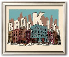 "Art.com ""Brooklyn"" Framed Art Print by Hero Design"