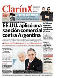 EE.UU. aplicó una sanción comercial contra Argentina. Más información: www.clarin.com