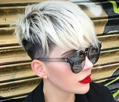 42 Coolest Short Pixie Cuts and Hairstyles Trends in 2019 Coolest Short Pixie Cuts and Hairstyles Trends in Trendy hairstyles and colors Women hair colors; Edgy Short Hair, Short Hairstyles For Thick Hair, Short Pixie Haircuts, Short Blonde, Short Hair Cuts, Blonde Hair, Short Hair Styles, Edgy Pixie Hairstyles, Pixie Cut Kurz