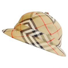 Pre-owned Burberry Vintage  Novacheck Safari Hat (€175) ❤ liked on Polyvore featuring accessories, hats, brimmed hat, burberry hat, safari hat and burberry