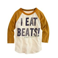 Boys' beats baseball tee - graphic tops - Boy's graphics shop - J.Crew