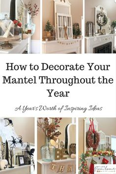 4 Easy Steps and Ideas : How to Decorate and Accessorize a Mantel ...