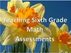 Calling all 6th Grade math teachers!  Here are mini assessments for every concept of every standard of the Common Core for sixth grade math. All assessments should be up by the Summer of 2014. Slowly but surely!