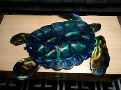 Metal wall art sea turtle wall sculpture outdoor patio deck poolside decor art #Handmade #Modern Metal Wall Sculpture, Outdoor Sculpture, Wall Sculptures, Metal Wall Art, Turtle, Contemporary Art, Bbq, How To Draw Hands, Deck