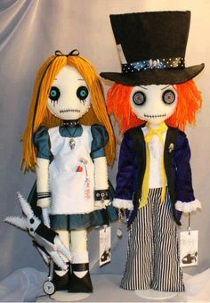Alice in wonderland, mad hatter, plush, art dolls.  Not for me, but cool to try and make some day
