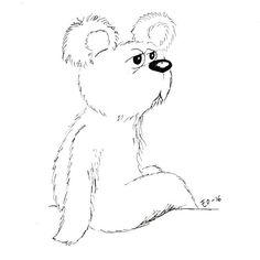 Sunday funday...  #sunday #bear #cartoon #bored #ink #sketch #doodle #art #illustration