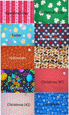 You Pick Six -No tie dog bandana for each holiday. $27.00, via Etsy.