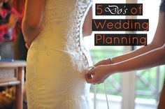 "As a follow-up to our post ""5 Don'ts of Wedding Planning,"" we thought we'd share 5 things that every bride should do when planning her wedding to have a more pleasant and stress-free wedding planning experience! http://reginedanielle.com Chicago Wedding Planner"