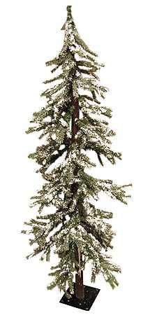 alpine frosted trees ft frosted skinny alpine tree country primitive christmas tree - Skinny Christmas Trees Hobby Lobby