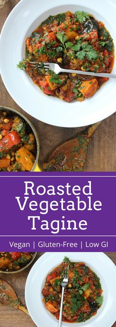 Roasted Vegetable Tagine with Rose Harissa Side Dish Recipes, Vegetable Recipes, Healthy Recipes, Healthy Dinners, Salad Recipes, Healthy Food, Rose Harissa, Grilled Carrots, Different Salads