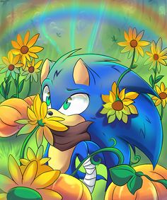 aww :) Who else can see him picking flowers for amy! :D Sonic: WAT O.o