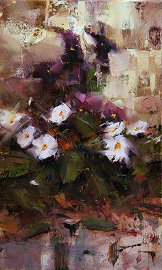 In the Backyard by Tibor Nagy Oil ~ 19,6 x 11,8