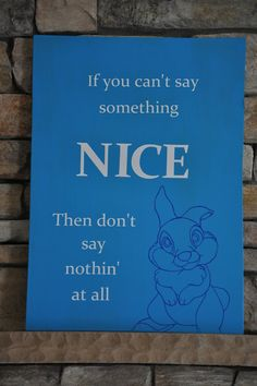 Turning Stones Blog: If you can't say something nice...