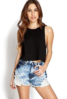 Bleached Denim Shorts | FOREVER21 Dreamin' of denim cutoffs #BleachedDenim #Jeans #MustHave