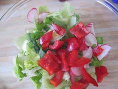 Bei der Hitze diese WOche gabs bei Jessie oft Salat wie diesen hier.