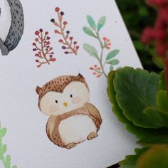 Hellow from the cutie owl from the Woodland Gang ❤️❤️ #watercolor #watercolour…