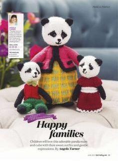 Free Knitting Patterns Uk, Knitted Doll Patterns, Knitted Dolls, Easy Knitting, Crochet Toys, Knitting Toys, Sewing Patterns, Crochet Patterns, Christmas Panda