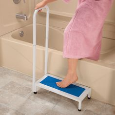 """The Bath Safety Step is a safe way to prevent slips when getting in and out of the bath tub.  Here is what one of our buyers had to say about the bath step, """"I love this item for our customers because of the handle, which makes the raised step even safer and is a unique feature in the marketplace.  Fall prevention and home safety is important to our customers, especially safety and security in the bathroom."""""""