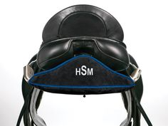 Monogrammed saddle rack covers-  Mine vs yours