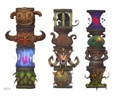 Totems, Stoyan Stoyanov on ArtStation at http://www.artstation.com/artwork/totems