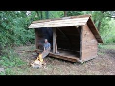 This is a 6-minute overview of the construction of my backwoods shelter. The…