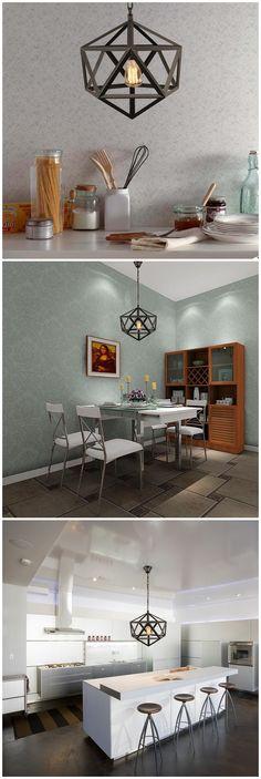 Geometric Metal Chandelier: Home lighting,vintage lighting,light fixture, chandelier, lamp, hanging lighting, pendant light, industrial lighting. http://www.zosomart.com/home-living/lamps-lighting/020501-01509.html