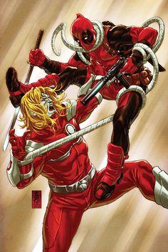 Mark Brooks Deadpool vs Omega Red Request (@Kyle_Levey) #wolverineWednesday