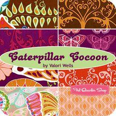 Caterpillar Cocoon Fat Quarter Bundle Valori Wells for Free Spirit Fabrics - Quilt inspiration