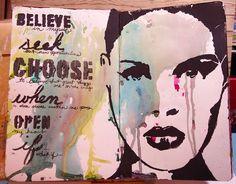 "Tobi's Place: My ""Smoosh"" Book using stencils from StencilGirl."