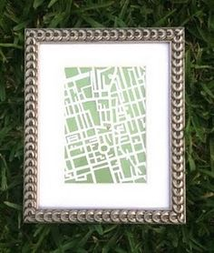 WOW I love this idea for a hand cut map. She cut out London, I think it would be fun to cut out a map of our neighborhood and frame it for our living room. Map Artwork, Artwork For Home, Silhouette Vinyl, Cheap Gifts, Us Map, Nursery Art, Paper Crafts, Diy Crafts, Gallery Wall